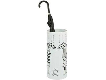 Schirmständer in Weiß Metall Motiv