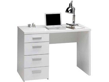 Kinderzimmer Schreibtisch in Weiß 110 cm breit