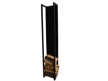 Metallregal für Brennholz Schwarz