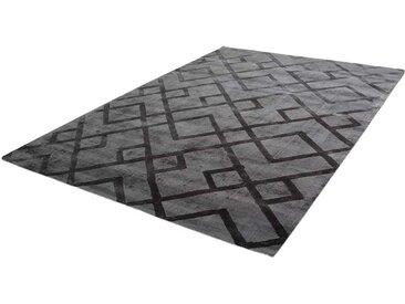 Kurzflor Teppich in Anthrazit geometrisch gemustert