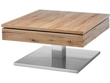 Wohnzimmer Tisch mit schwenkbarer Tischplatte Eichefarben