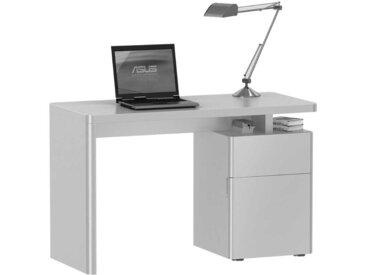 Hochglanz Schreibtisch in Weiß 120 cm breit