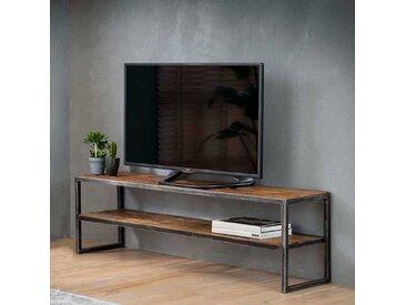 Fernsehertisch aus Recyclingholz und Metall 150 cm breit