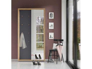 Glasgarderobe in Wildeichefarben und Dunkelgrau modern