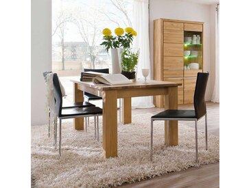 Esszimmertisch aus Wildeiche Bianco massiv ausziehbar