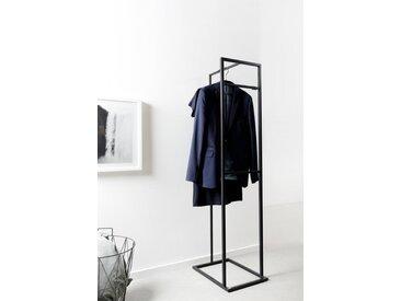 Design Kleiderständer ALVA aus Metall. Hochwertiger Garderobenständer aus Metall mit matt schwarzem Gestell.