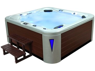 AWT Aussenwhirlpool IN-593 premium WhitePearlescent 235x225 braun