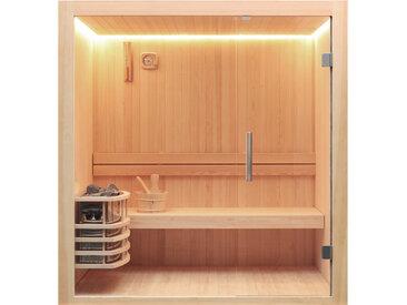 AWT Sauna E1803C Pinienholz 120x120 ohne Saunaofen