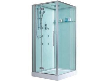 EAGO Duschkabine D989 mit Duschtasse weiß 100x100 links