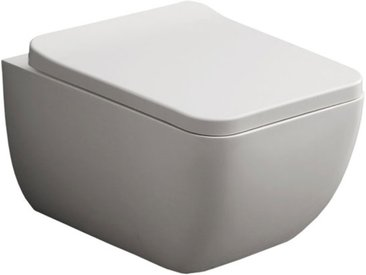 STONEART StoneArt WC Hänge-WC TMS-505P weiß 54x38cm glänzend