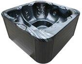 AWT Whirlpool Aussenwhirlpool IN-102 mit Isolierung PearlShadow 200x200 grau