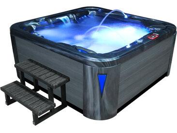 AWT Aussenwhirlpool IN-594 premium CloudyBlack 215x215 grau