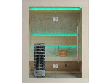 AWT Sauna E1252C Pappelholz 100x110 6.8kW Cilindro