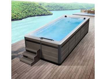 AWT Swim-SPA Innovation 550 weiß 550x230 grau