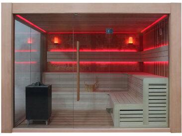 AWT Sauna B1416B rote Zeder 250x250 12kW EOS BiO-Cubo