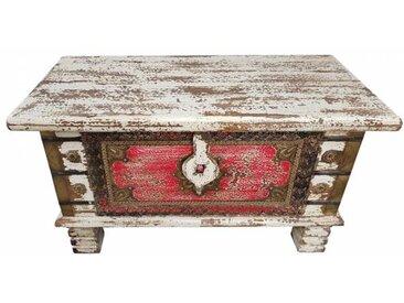 Truhe Kiste Holztruhe Box 80 Vintage Massiv Shabby Chic aus Handarbeit Unikat 6