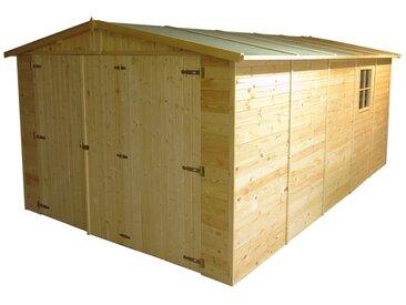 Holzgarage aus vorgefertigten Elementen M101 - H222xL516xB324