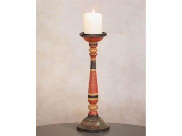 Kerzenleuchter Vintagerot-Schwarz - one size - bunt - 100 % Holz