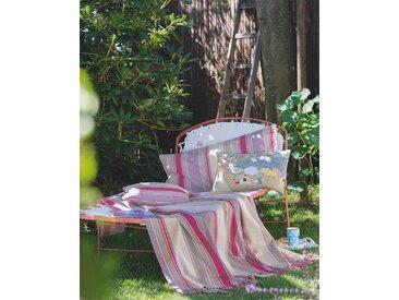 Tagesdecke pink-lila-beige - one size - bunt - 100 % Baumwolle