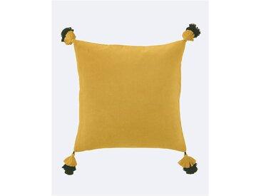 Samtkissenhülle Raffinierte Quasten gelb - one size - bunt - 100 % Baumwolle