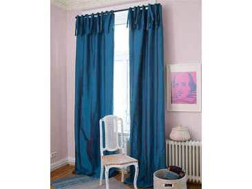 Vorhang petrol - 135 x 325 - bunt - Vorhang: 100 % Faux Silk, Abfütterung: 100 % Baumwolle