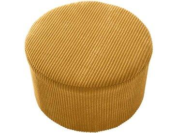 Sitzpouf currygelb klein - one size - bunt - Polyesterkord