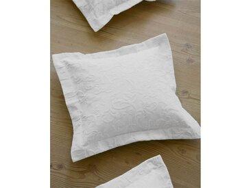 Piquekissenhülle Renascena - 50cm x 50cm - Weiß - 100 % Baumwolle