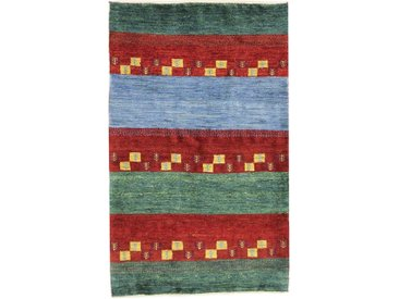 Perser Gabbeh Loribaft Teppich Orientteppich 135x82 cm Handgeknüpft Modern