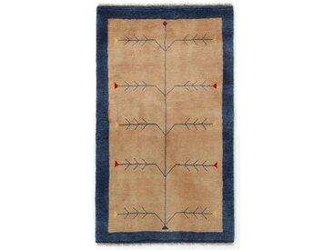 Perser Gabbeh Kashkuli Teppich Perserteppich 146x81 cm, Läufer Handgeknüpft Modern