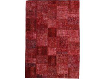 Patchwork Teppich Orientteppich 299x208 cm Handgeknüpft Modern