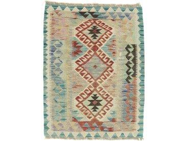 Kelim Afghan Teppich Orientteppich 83x64 cm Handgewebt Klassisch