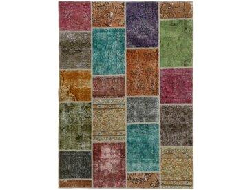 Patchwork Teppich Persischer Teppich 198x143 cm Handgeknüpft Modern