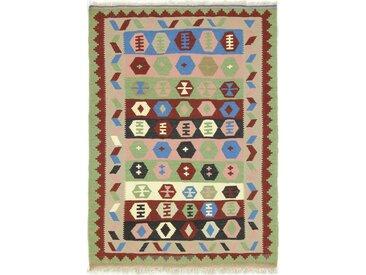 Kelim Fars Teppich Orientteppich 151x106 cm Handgewebt Klassisch