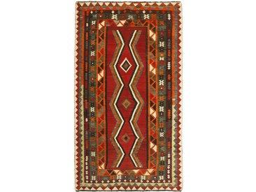 Kelim Fars Alt Teppich Perserteppich 222x126 cm Handgewebt Klassisch