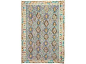 Kelim Afghan Teppich Orientteppich 298x211 cm Handgewebt Klassisch