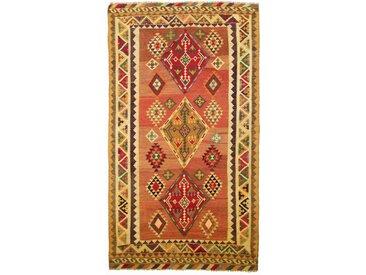 Kelim Fars Old Style Teppich Persischer Teppich 249x141 cm Handgewebt Klassisch