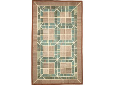 Kelim Patchwork Teppich Perserteppich 296x177 cm Handgewebt Klassisch
