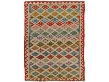 Kelim Afghan Teppich Orientteppich 175x133 cm Handgewebt Klassisch