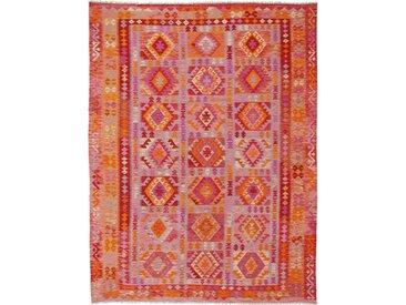 Kelim Afghan Heritage Teppich Orientteppich 344x261 cm Handgewebt Design Modern