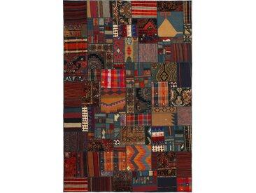 Kelim Patchwork Teppich Orientteppich 300x200 cm Handgewebt Klassisch