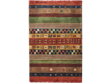 Perser Gabbeh Loribaft Teppich Orientteppich 187x139 cm Handgeknüpft Modern