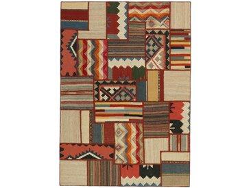 Kelim Patchwork Teppich Orientteppich 201x141 cm Handgewebt Klassisch