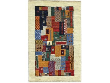 Perser Gabbeh Loribaft Teppich Orientteppich 117x76 cm Handgeknüpft Modern