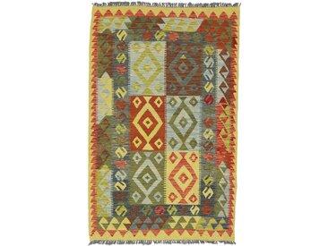 Kelim Afghan Teppich Orientalischer Teppich 167x105 cm Handgewebt Klassisch