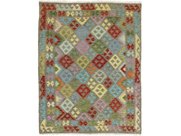 Kelim Afghan Heritage Teppich Orientteppich 208x158 cm Handgewebt Design Modern