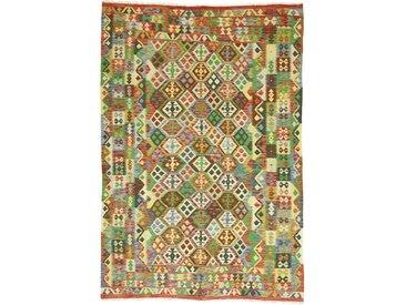 Kelim Afghan Heritage Teppich Orientalischer Teppich 301x205 cm Handgewebt Design Modern
