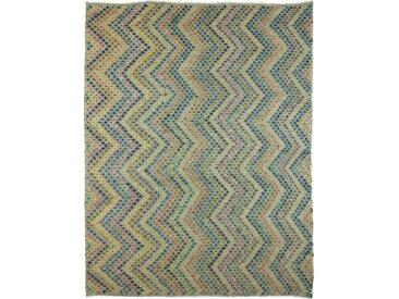 Kelim Afghan Teppich Orientteppich 397x301 cm Handgewebt Klassisch