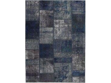 Patchwork Teppich Orientteppich 198x139 cm Handgeknüpft Modern