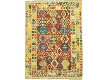 Kelim Afghan Teppich Orientalischer Teppich 238x180 cm Handgewebt Klassisch