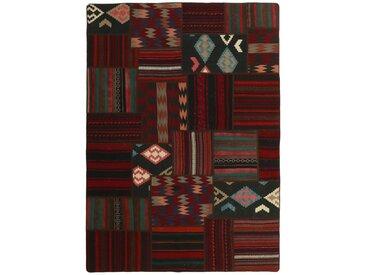 Kelim Patchwork Teppich Orientalischer Teppich 227x161 cm Handgewebt Klassisch